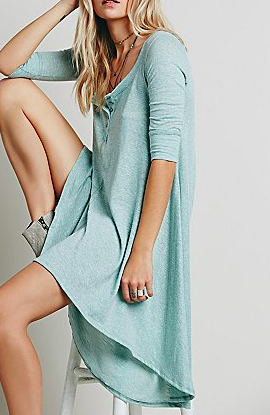 Free People jersey swing dress