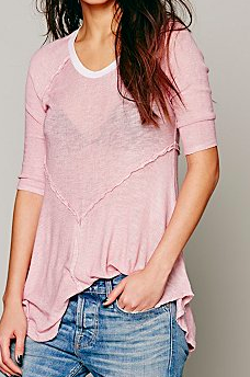 Free People pink drapy top