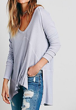 Free People thermal oversized sweater