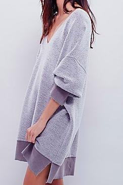Free People fuzzy long sweater