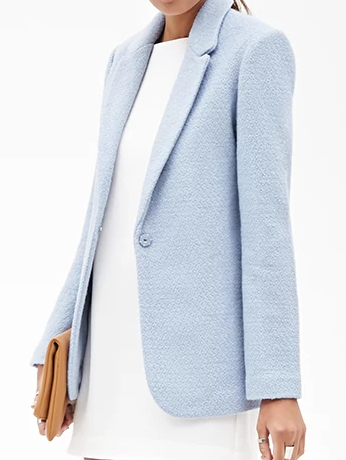 Forever 21 light blue blazer