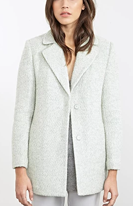 Forever 21 mint boucle coat