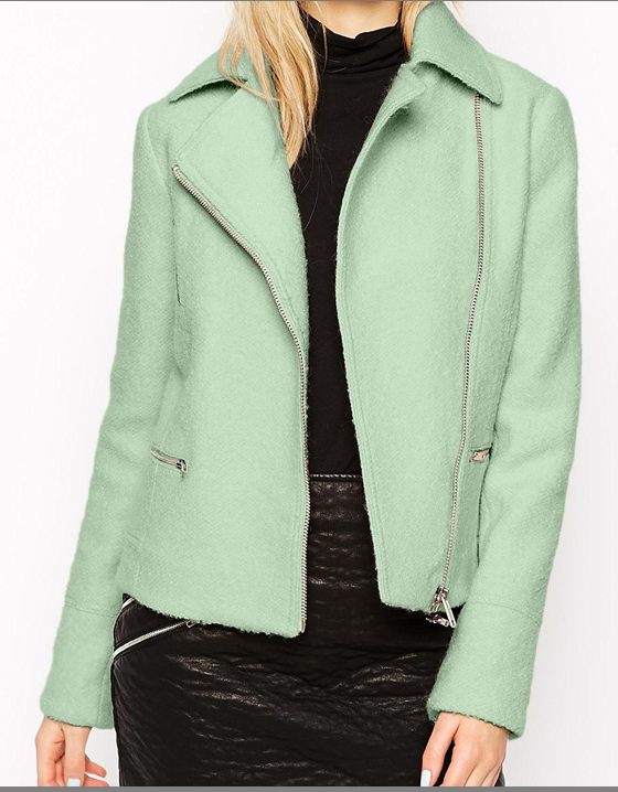 Asos mint biker jacket