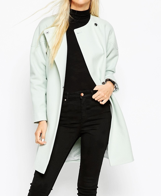 Asos mint swing coat