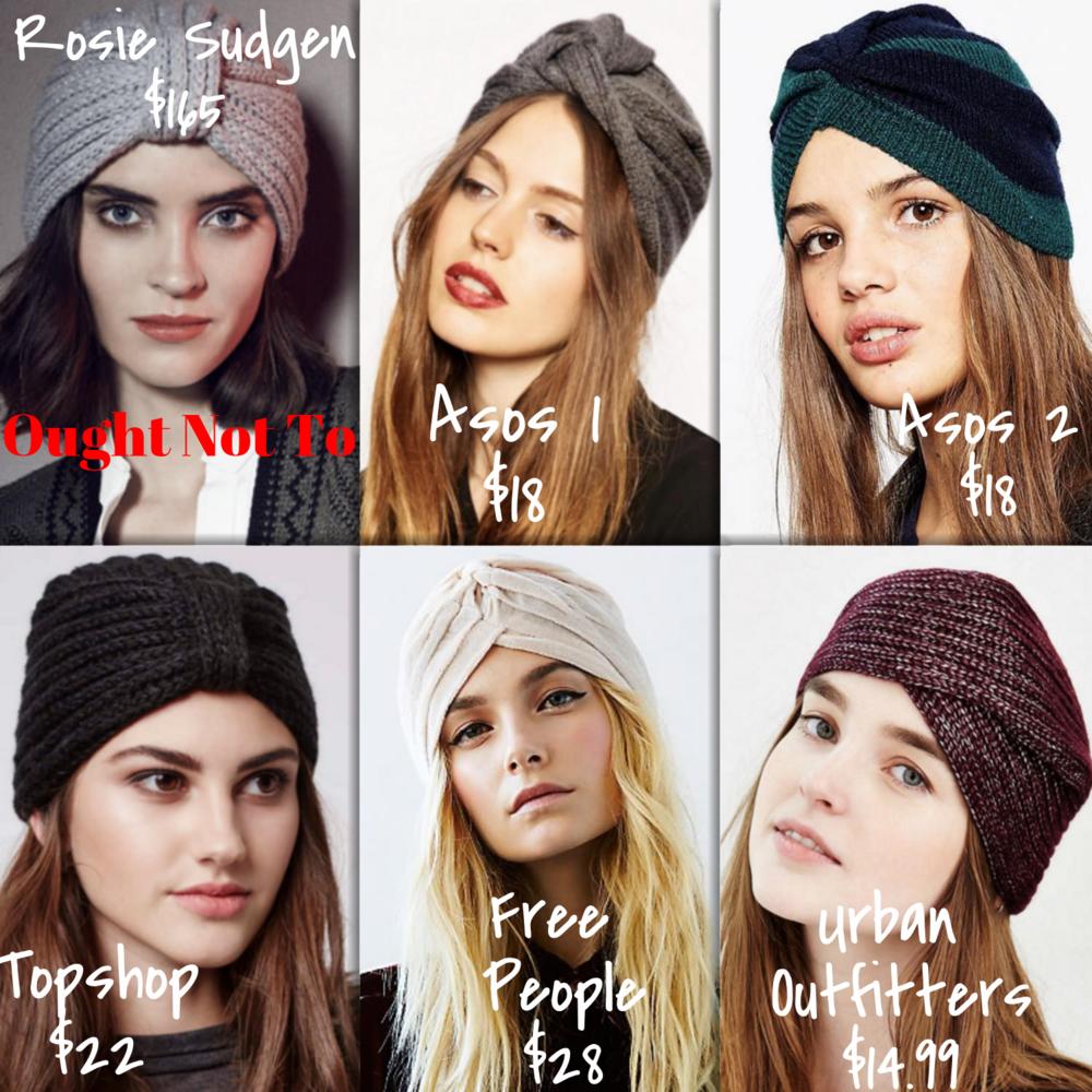 Affordable Knit Turbans | TrufflesandTrends.com