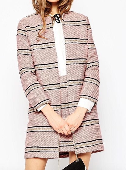 ASOS Premium Boucle Stripe Jacket Co-ord