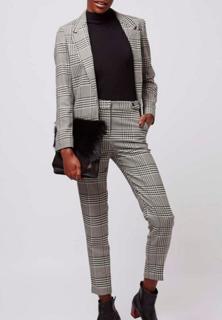 Topshop checked suit