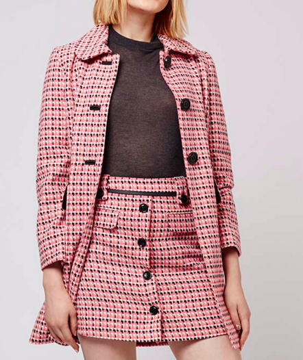 Topshop coat and skirt twosie set