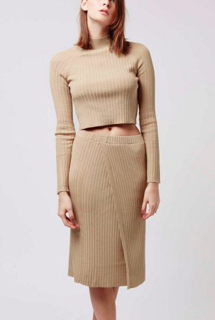 Topshop ribbed sweater and skirt twosie set