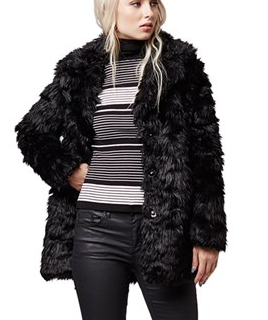Topshop shaggy faux fur coat