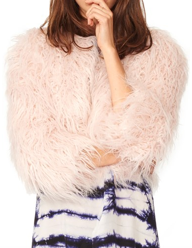 n:PHILANTHROPY 'Georgie' Crop Faux Fur Jacket