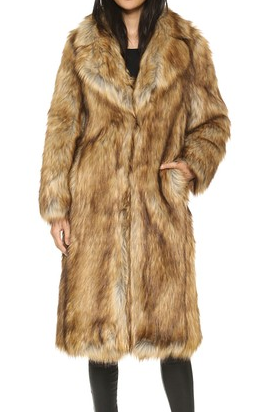 Whistles Wolfie Faux Fur Coat