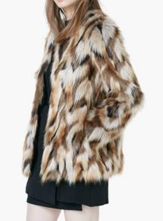 Club Monaco faux fur coat