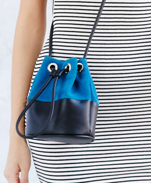 Silence + Noise Colorblock Mini Bucket Bag