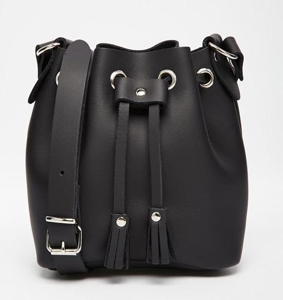 Grafea Micro Duffle Bag in Black Leather