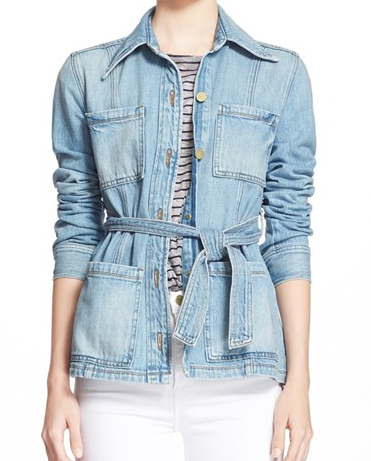 Frame Denim belted denim jacket