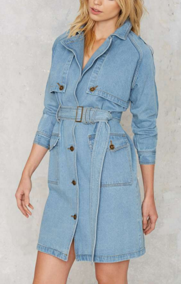 JOA denim trench