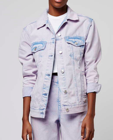 Topshop moto acid denim jacket