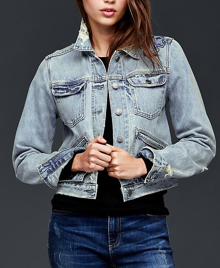 Gap embroidered denim jacket