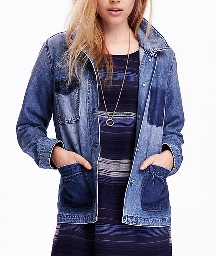 Old Navy distressed denim jacket