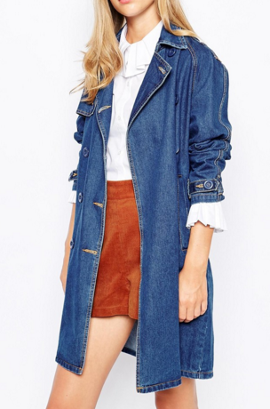 Lost ink denim trench