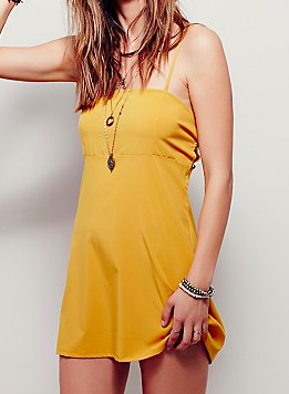 Free People mini slip dress