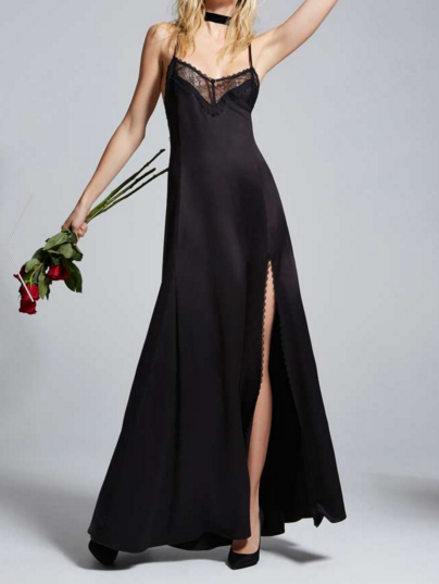 Love, Courtney by Nasty Gal Once and Destroy Satin Maxi Slip
