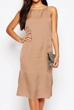 Asos midi slip dress