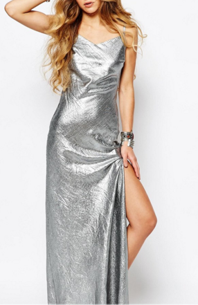 Reclaimed Vintage silver slip dress