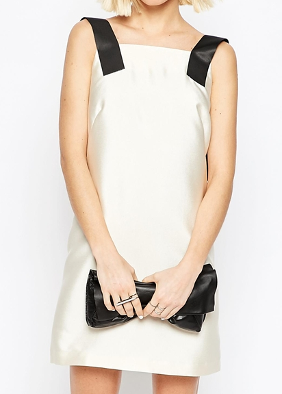 Asos white slip dress