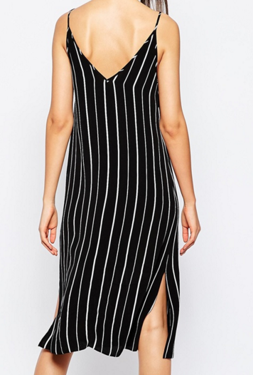 Asos pinstripe slip dress