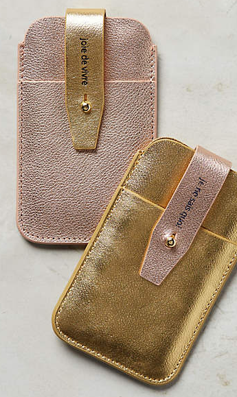 Anthropologie metallic phone case