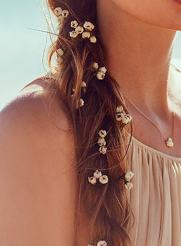 Free People flower hair piece