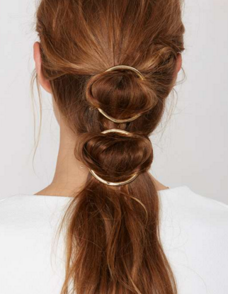 Nasty Gal circle hair pin