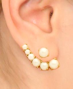 Kate Spade pearl ear jackets