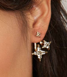 NOrth West Star pave ear jackets