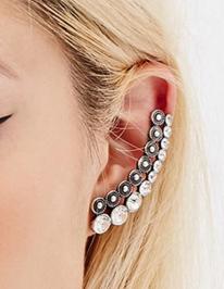 Forever 21 rhinestone ear cuffs