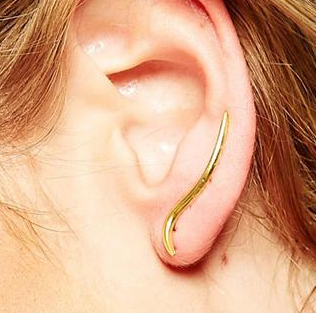Asos gold plated ear crawler