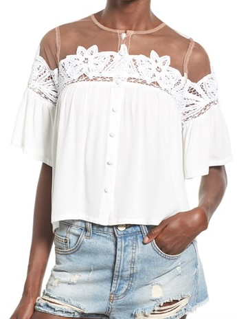 For Love & Lemons 'Carmine' Blouse