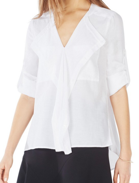BCBGMAXAZRIA 'Eveline' Cotton Blend Top