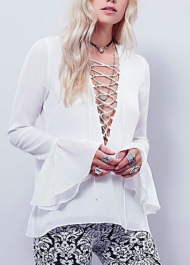 Stone Cold Fox white blouse