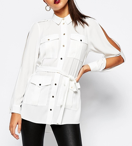 River Island Utility Belted Shirt