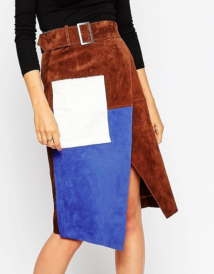 Asos suede wrap skirt