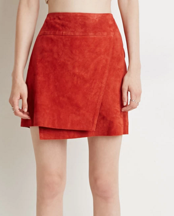 Forever 21 suede wrap mini skirt