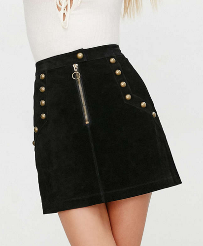 UO suede mini skirt