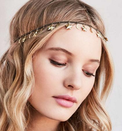 Moon + Stars Goddess Headwrap