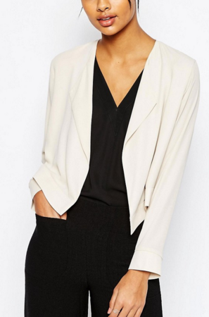 ASOS Cropped Blazer with Collar