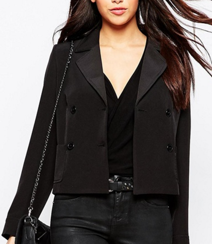 Asos cropped double breasted jacket