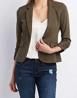 Charlotee Russe cotton blazer