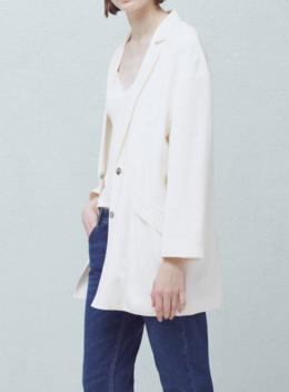 Mango white oversized blazer